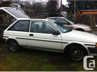 1.5 litre engine, 189,000 kms White, 2 door, automatic