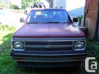 1991 Chevy S10 Extended Cab Pick-up  4.3 V6 Engine -
