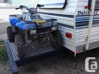 This great clean and solid trailer.  It solved our