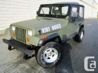 1991 Jeep YJ odometer: 359000 I have a ARMY GREEN1991