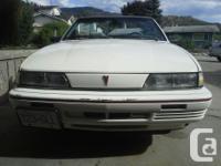 Make Pontiac Model Sunbird Colour white Trans