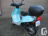 1991 Yamaha Razz, 50 cc scooter, 2900 km, 2 stroke, oil