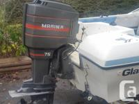 1992 16 foot Glason bowrider with 75hp Sailor outboard.