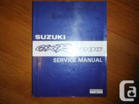 OEM 1992-1998 SUZUKI GSX-R 1100W service manual. There