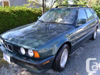 1992 BMW 525 iT touring wagon Island green, with tan