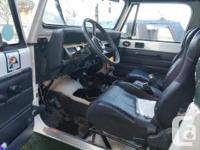 Make Jeep Colour White Trans Manual kms 152000 92 jeep
