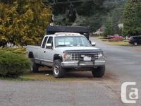 1992 Chevy k2500, 4x4, 5spd. standard. Good glass all