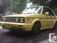 Make Volkswagen Model Cabrio Year 1992 Colour Yellow