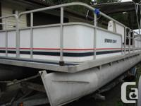 - 1993 24 ft. Smoker Craft Pontoon Boat - Comes with