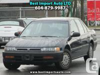 Year: 1993  Make: Honda  Model: Accord  Trim: LX