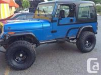 Im selling my jeep yj in wonderful 5 rate Manual 2.3