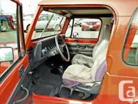 Make Jeep Model YJ Year 1993 Colour RED Trans Manual