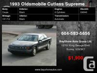 1993 Oldsmobile Cutlass Supreme 2dr Coupe S, 157,000KM
