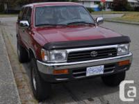 Colour red Trans Automatic kms 234500 This 4Runner is