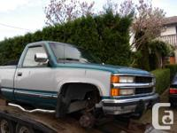 1994 Chev 1500  4X4   For Parts -   3 '' exhaust  ect
