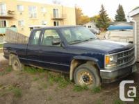 1994 Chev K1500 Ext. Cab SL 425000 km. Needs Engine