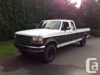 94 f250 7.3 turbo diesel with 272km it has a 5 speed