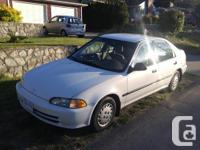Make Honda Model Civic Year 1994 Colour White kms