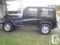 Make Jeep Model YJ Colour black Trans Manual kms