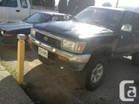 black 1994 toyota 4runner 5speed 22re motor runs great