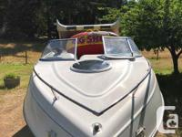 This boat flies on the water, super stable. Includes