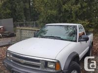 Make Chevrolet Model S-10 Year 1995 Colour White Trans