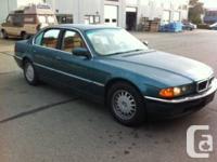 1995 BMW 740i  DARK GREEN KMS: 290,000 kms ALL