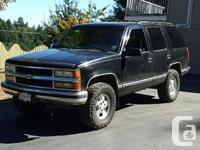 Make. Chevrolet. Version. Tahoe. Year. 1995. Colour.