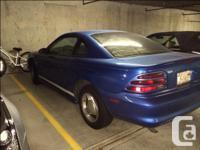Make Ford Model Mustang Year 1995 Colour BAHAMA BLUE