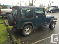 Make Jeep Model YJ Year 1995 Colour Green kms 240000