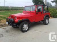 1995 jeep yj 2.5l 4cyl 5-speed stadard.4X4,one owner,