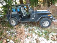 Make Jeep Model YJ Year 1995 Colour black 1995 jeep yj