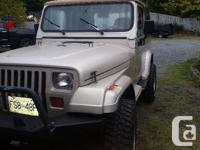 Make Jeep Model YJ Year 1995 Colour Tan kms 17000