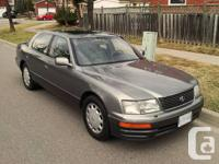 For sale is a clean and well maintained Lexus LS 400