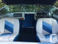 18.5ft Malibu boat with cuddly cabin. 4.3 V6 inboard,