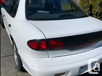 Make Pontiac Model Sunfire Year 1995 Colour White kms