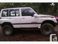 I have a 4 door Suzuki sidekick for sale, $500 obo. IT