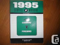 """1995 Service Manual F Platform Camaro Firebird Service"
