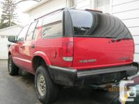 1996 Chev Blazer. Good running vehicle. 6 cyl. Needs