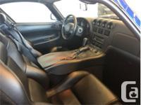 Make Dodge Model Viper Year 1996 Colour Blue kms 3608