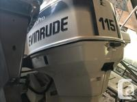 1996 Evinrude 115 outboard low hours and very well