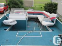 One 1996 Lowe 1900 Deck Boat complete with 130 Johnson