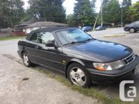 1996 SAAB 900 SE  CONVERTIBLE  V6 2.5 LITRE AUTOMATIC for sale  British Columbia