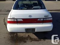 Well-maintained 1996 Toyota Corolla DX with BONUS!!