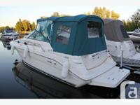 Well cared for 1997 27' Sea Ray Sundancer, white with