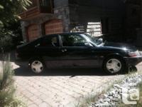 Black Saab 900 se Turbo 2 door Hatchback. 213,000 km.
