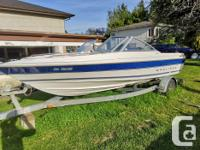 19ft Bowrider in good shape. Marine stereo with aux and