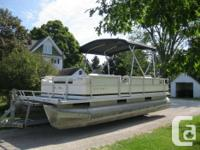 1997 Crest Pontoon Boat * Fish/Cruise Model * Full