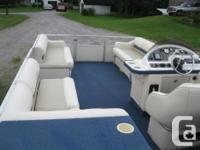 1997 Crest Fish/Cruise 22' Pontoon Boat w/40hp *