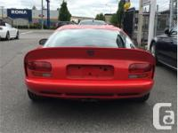 Make Dodge Model Viper Year 1997 Colour Red kms 2681